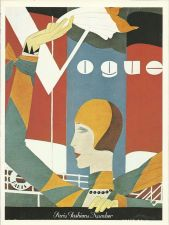 Buy Vogue 1927 Cover Print Paris Fashions Art Deco 1984 original print