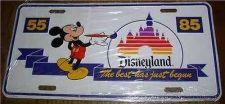Buy Disneyland Walt Disney Productions Mickey Mouse License Plate