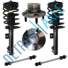 Buy Set: Rear Ready Strut Assembly + Wheel Hub Bearings Non-ABS + Sway Bar Links