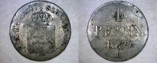 Buy 1835-B German States Hannover 1/2 Mariengroschen (4 Pfennig) World Silver Coin