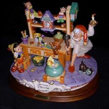 Buy Disney Pinocchio & Gepetto Workshop Capodimonte Laurenz C.O.A Original Box