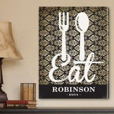 "Buy 18""x24"" Canvas - Personalized Bistro Sign Canvas Print - Free Personalization"