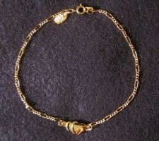 "Buy Sarah Coventry Jewelry..Heart Ankle Bracelet 9 1/4"" (Sarah's Secret) #1822"