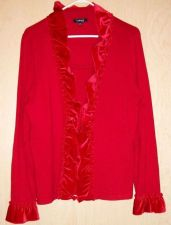 Buy Sweater in Solid Red Rayon and Polyester by Elementz PXL