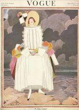 Buy Vogue 1922 Cover Print Lady Fashion Rocks Sea Sky Art Deco 1984 original print