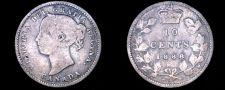 Buy 1888 Canada 10 Cent World Silver Coin - Canada - Victoria
