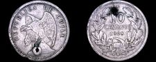 Buy 1928 Chilean 10 Centavo World Coin - Chile - Vulture - Holed
