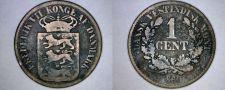 Buy 1860 Danish West Indies 1 Cent World Coin - Virgin Islands