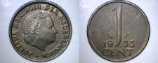 Buy 1953 Netherlands 1 Cent World Coin