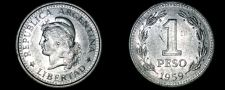 Buy 1959 Argentina 1 Peso World Coin
