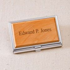 Buy Wood Business Card Case - Free Personalization