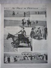 Buy Polo Horse Side Saddle Women Riders Deauville France 1909 original french print