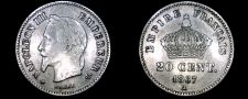 Buy 1867-A French 20 Centimes World Silver Coin - France