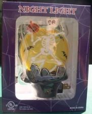 Buy Skeleton Night Light with RIP Tombstone Halloween