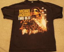 "Buy Michael Jackson ""This is it"" Black Shirt Size Large"