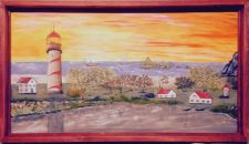 Buy Paranagua Bay ~ The artist's rendering of a stylized view of Paranagua Bay~9