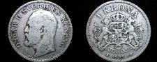 Buy 1907 Sweden 1 Kronor Krona World Silver Coin