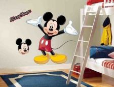 Buy Roommates Disney Mickey Mouse Peel & Stick Giant Wall Decal - NEW Room Or Party