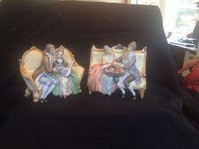 Buy antique porcelain - bisque . German. 2 couples on a sofa