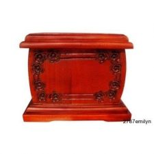 Buy Adult Mahogany Wood Funeral Cremation Memorial Urn for Ashes Velvet Liner