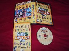 Buy THE SIMS 2 FAMILY FUN STUFF PC DISC MANUAL ART & CASE NEAR MNT TO MINT HAS CODE