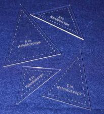 "Buy 4 Piece Set Kaleidoscope 6"" & 8"" Templates Acrylic 1/8"" thick. Quilting/Sewing"