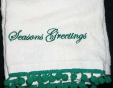 Buy Hand towels Bathroom Seasons Greetings Momogrammed
