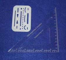 "Buy Laser Cut Drafting Square & Eraser Shield - 1/8"" Acrylic & 14 Mil Mylar"