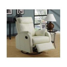 Buy Home Theater Swivel Chair Deep Faux Leather Seating Recliner Lounge Rocker White