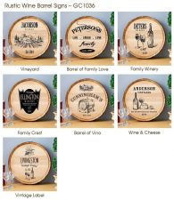 Buy Wine Barrel Sign - 7 Designs - Free Personalization