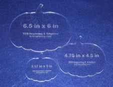 """Buy 3 Piece Pumpkin Quilting Template Set ~1/4"""" Thick - Acrylic - Long Arm / Hand"""