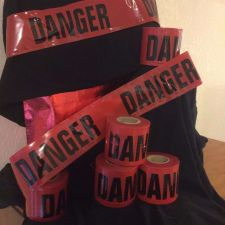 """Buy Two rolls Red """"Danger"""" FLAGGING Tape 200 foot roll Fast Free Shipping USA Seller"""