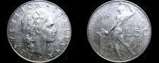 Buy 1977 Italian 50 Lire World Coin - Italy