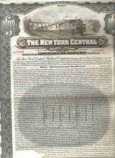Buy New York New York City Stock Certificate Company: New York Central Railroa~109