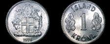Buy 1978 Icelandic 1 Krona World Coin - Iceland