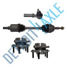 Buy Front Driver CV Axle Shaft + NEW Tie Rod + 2 NEW Wheel Hub and Bearing Assembly