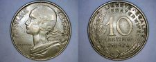 Buy 1967 French 10 Centimes World Coin - France