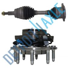 Buy Complete Front Driver/Passenger CV Drive Axle + New Wheel Hub Bearing Assembly