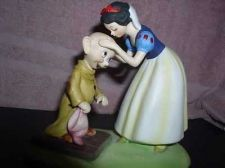 Buy Snow White Kissing Dopey Walt Disney Productions WDP porcelain bisque fig