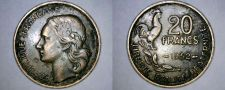 Buy 1952 French 20 Franc World Coin - France