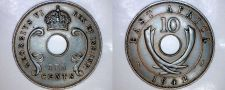 Buy 1942 East African 10 Cent World Coin - British Admin Kenya
