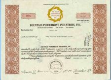 Buy Nevada na Stock Certificate Company: Fountain Powerboat Industries, Inc.~38