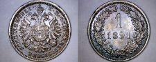 Buy 1891 Austrian 1 Kreuzer World Coin - Austria