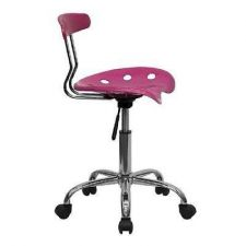 Buy Flash Furniture Office Chair Seat Pink Computer Drafting Cad Lab Task Bar Stool