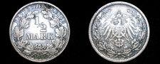 Buy 1918 A German Empire Half (1/2) Mark World Silver Coin - Germany