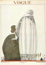 Buy Vogue 1920 Cover Print Man Lady Fashion Suit Fur Art Deco 1984 original print