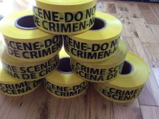 "Buy Crime Scene Do Not Cross English/Spansh -YELLOW FLAGGING Tape 3"" x 1000ft"