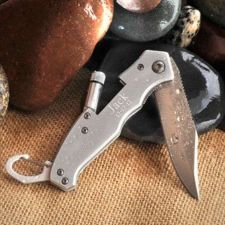 Buy Klondike Folding Knife with Flashlight - Free Personalization