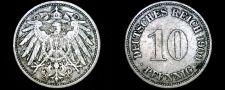 Buy 1900-F German 10 Pfennig World Coin - Germany