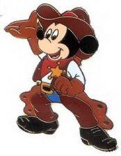 Buy Disney Mickey Cowboy full body and has sheriffs badge pin/pins